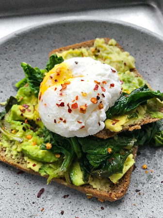 Spinach and Avo Toast